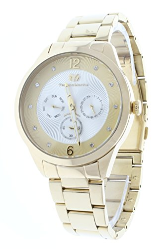 Technomarine TM-117041 Womens Gold Stainless Steel Watch Multifunction Crystal Dial Markers