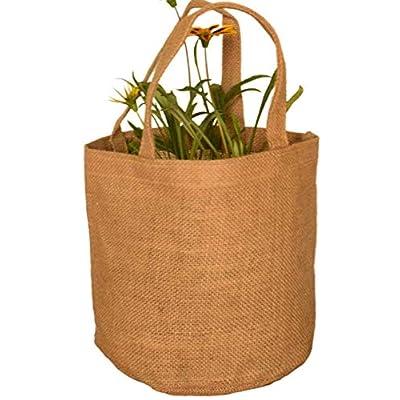 Transforming Life Jute Burlap Grow Bags with Drain Holes for Indoor & Outdoor Planting (3 Pack) : Garden & Outdoor