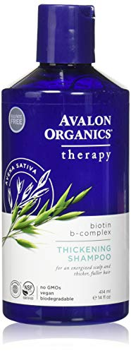 Avalon Organics Biotin B-Complex Thickening Shampoo, 14 oz. (Avalon Rosemary Volumizing Shampoo From Avalon Organics)