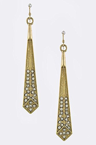 Trifari Clear Rhinestone (BAUBLES & CO CRYSTAL BEADED DROP EARRINGS)