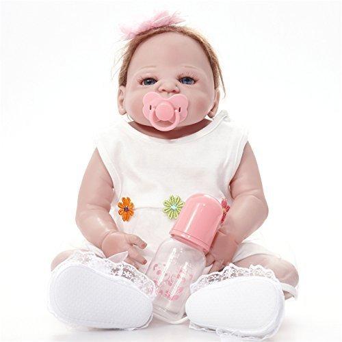 Spielzeug Geschenk Reborn Baby Lebensechte neugeborene Schöne spielzeug Puppe prinzessin Als Kinder Spielkameraden Geburtstag Weihnachtsgeschenk. 23 Zoll