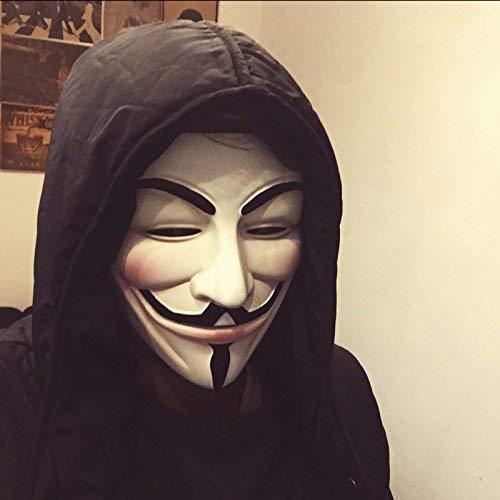 Rak V For Vendetta Comic Face Mask Anonymous Guy Fawkes White