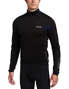 Gore Bike Wear Men's Ozon Windstopper Long Sleeve Jersey, Medium, Black/Navy Blue