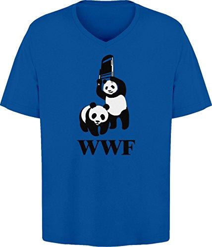 BSW Men's WWF WWE Panda Wrestling Chair V-Neck 4XL Royal ...