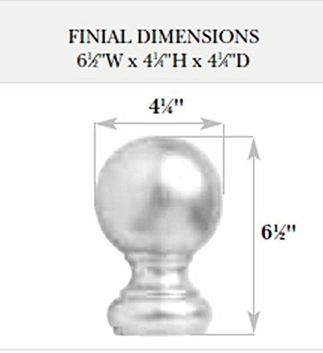 Kirsch Wood Trends Classics Ball Finial, for 3'' pole, Walnut (MPN# 59083085)