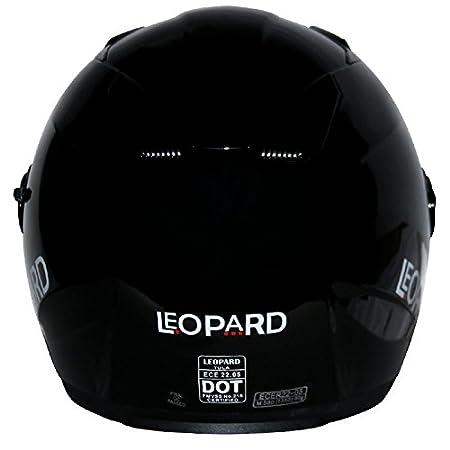 - Motorcycle ECE 2205 Approved 59-60cm Leopard LEO-608 Double Visor Open Face Motorbike Helmet White L