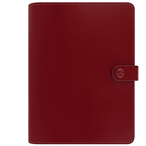 Filofax The Original Leather A5 Pillar Box Red Organizer Agenda Diary 2016 + 2017 Calendar Ring Binder with DiLoro Jot Pad refill 022381