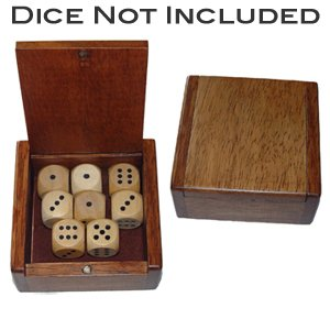 Small Wooden Box with Magnetic Closure - Measures 3.5 x 3.5 x 1.5 in.