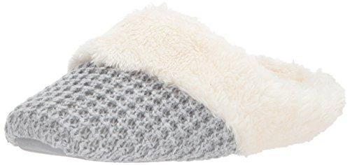 Toe Closed Light Grey Sweater Knit Slipper Dearfoams Scuff Heather Women's OwgnxvHqtI
