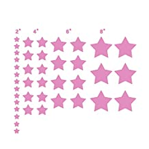 N.SunForest 40 Soft Pink Stars Confetti Vinyl Wall Decals Removable DIY Décor Stickers Baby Nursery Wall Art Mural