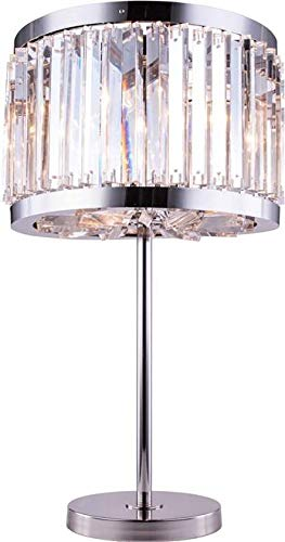Elegant Lighting Table Lamp Chelsea 4-Light Clear Crystal Polished Nickel Royal Cut New - Lamp Table Crystal Chelsea