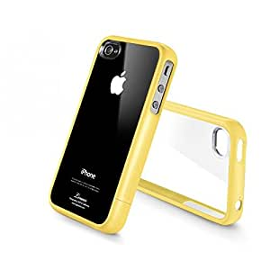 Funda de gel semirrígida para iPhone 4 y 4s color amarillo