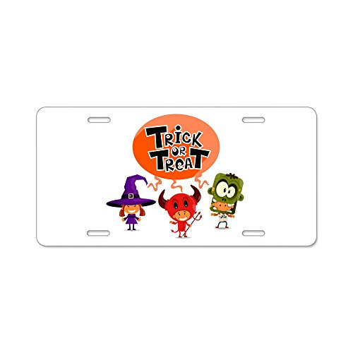 Aluminum License Plate Halloween Trick or Treat Kids -