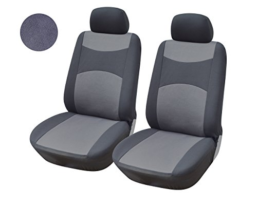 116002 Grey-fabric 2 Front Car Seat Covers Compatible to Honda CR-V 2015 & 2016