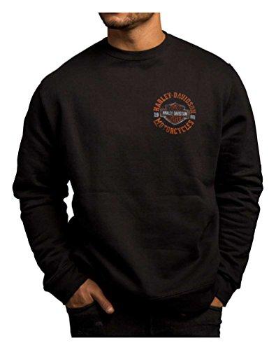 Harley-Davidson Men's Strange Gear Crew Neck Pullover Fleece 5T36-HC71 (XL) ()