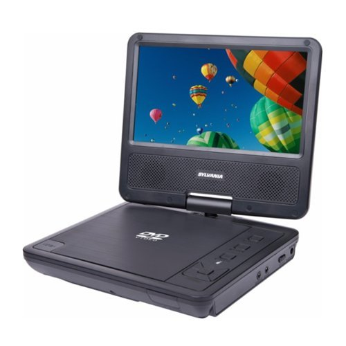"Sylvania 7"" Portable DVD Player with Swivel Screen Black SDVD7078"