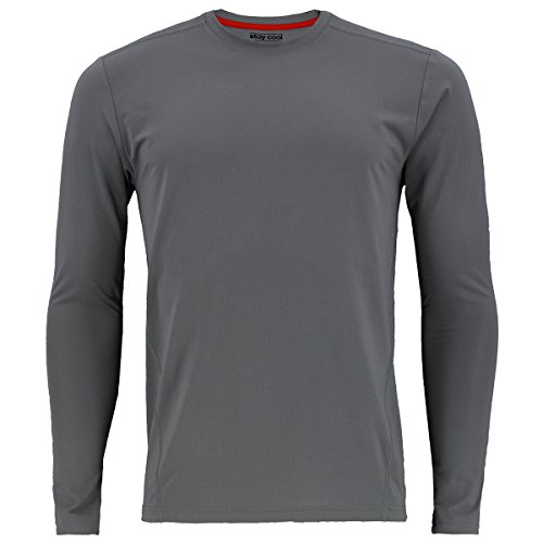 adidas Mens Baselayer Climacool UPF Long-Sleeve Crew Shirt Underwear (1-Pack), Grey, Medium