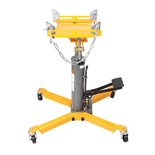 Three T 1500lbs Hydraulic Transmission Jack 2 Stage With 360 Degree Wheel for Car Lift Auto