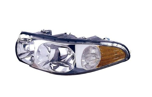 Buick LeSabre (CUSTOM) Replacement Headlight Assembly (With Cornering Lamp & Lined Hi-beam Lens) - 1-Pair - Buick Lesabre Headlight Assembly