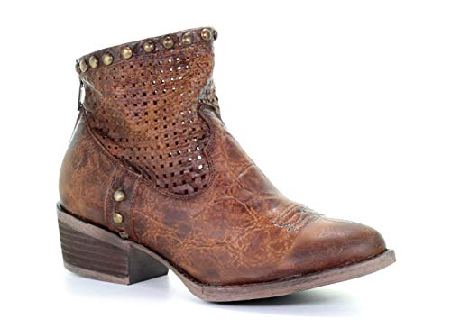 Circle G by Corral Women's Honey Cut Out & Studs Ankle Boots