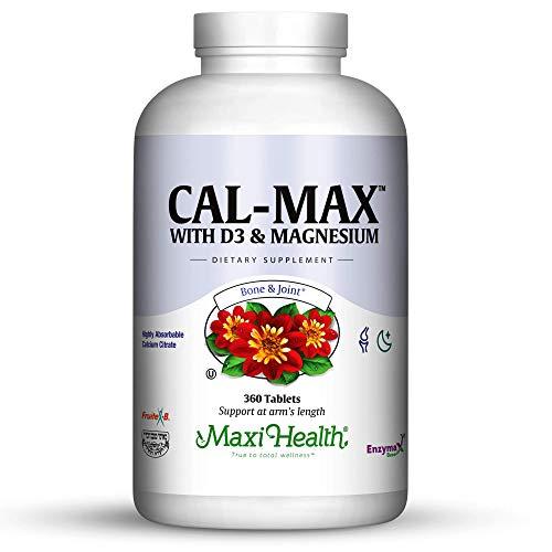 Maxi Health Cal-Max Calcium Citrate with Vitamin D3 and Magnesium, 360 Count