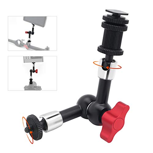CAMO 7 inch Articulating Magic Arm, Aluminum Variable Friction Arm with Shoe Mount and 1/4