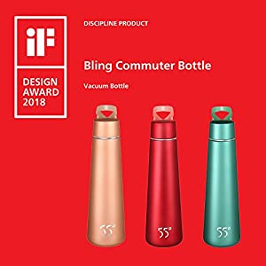 Insulated Water Bottle Vacuum Sealed Stainless Steel Hydration Flask Leak Proof Light in Weight Portable Perfect for Commuter Travel Office outdoor Sports and Home Use Win IF Design Award 2018