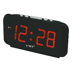 Zehui Alarm Clocks Big Numbers Digital Alarm Clocks EU Plug AC power Electronic Table Clocks with Large LED Display Red