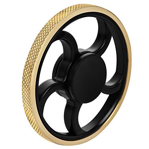URSKYTOUS Fidget Spinner,  figet Spinner Toy Time Killer Golden Steering Wheel