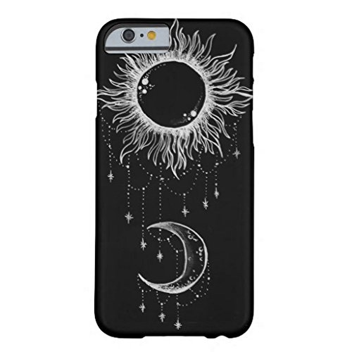 Iphone 6 Plus Case,Moon And Sun Boho Barely There Phone Case for Iphone 6 Plus (5.5-Inch)