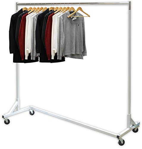 Simple Houseware Industrial Grade Z-Base Garment Rack, 400lb Load with 62