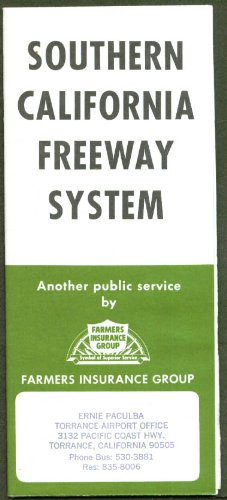 Southern California Freeway System Map 1972