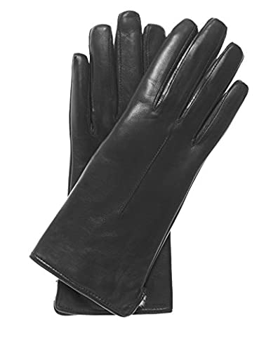 Fratelli Orsini Everyday Women's Our Bestselling Italian Rabbit Fur Gloves Size 8 Color Black - Fur Leather Gloves