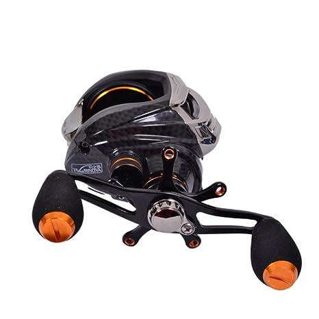 ryask (TM) Reino Unido Trulinoya TS1200 14BB 6.3: 1 mano derecha Bait Casting Pesca Carrete 13Ball cojinetes embrague unidireccional Baitcasting Pesca ...