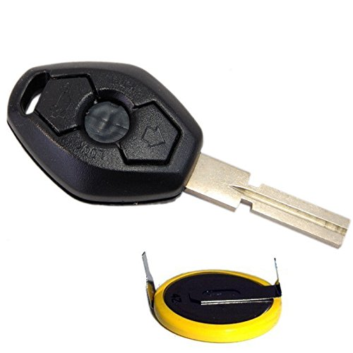 HQRP Transmitter and Battery for BMW X5 E53 2000 2001 2002 2003 2004 2005 2006 2007 2008 2009 Key-Fob Remote Shell Case Cover Smart Key Keyless FOB + Coaster (Bmw X5 Accessories 2001 compare prices)
