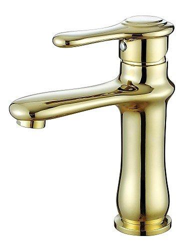 Centerset Antique Style Ti-PVD-Finish Messing Ein Loch Einhand Waschbecken Wasserhahn