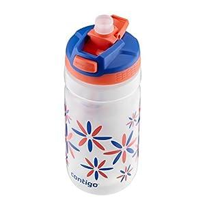 Contigo Autospout Straw Squeeze Kids Water Bottle, 18-Ounce, Tango Pink