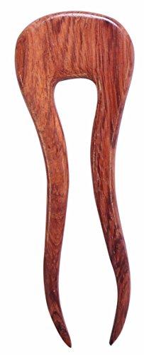Mary Crafts Wooden Rosy Simple Hair Pin, Hair Fork, Hair Stick, Hair Accessory Handmade 4 3/4