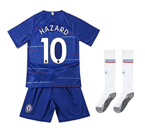 Claire Bernal Chelsea 2018/2019 Season #10 Hazard Home Youths/Kids Soccer Jersey & Shorts & Socks Size 6-7 ()