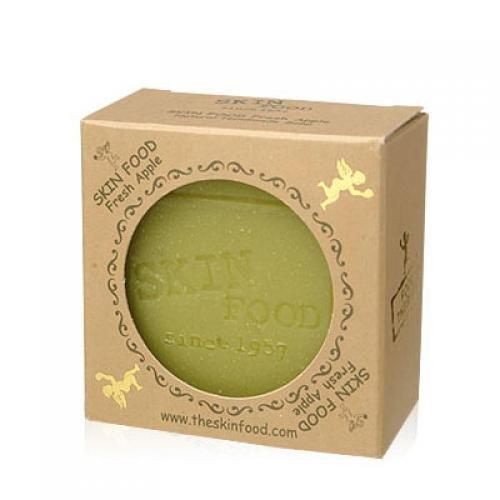 SKINFOOD-fresh-apple-handmade-mature-soap-Korean-Beauty-Imported