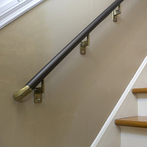 6ft Handrail Bronze Anodized Aluminum With 4 Antique