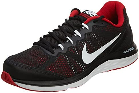 Nike Men s Dual Fusion Run 3 Running Shoe Black University Red White Size 10 M US