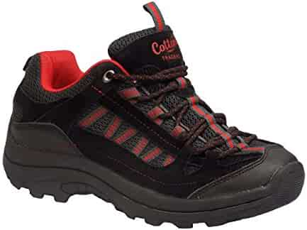 1a08705423de Cotton Traders Men s Hiking Trail Black Charcoal Red Laced Walking Shoes