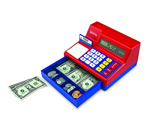 Learning Resources Pretend and Play Calculator Cash Register, 73 Pieces.