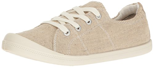 Madden Girl Women's Baailey Fashion Sneaker, Tan Fabric, 7 M US