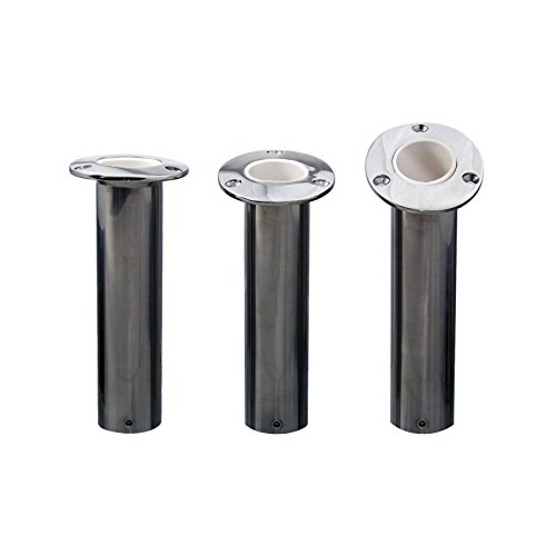 Norestar Flush Mounted Stainless Steel Rod Holder, 30-Degree