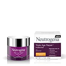 Use Neutrogena Triple Age Repair Facial Moisturizer to tackle wrinkles, uneven tone and loss of skin resilience. This daily anti-wrinkle moisturizer targets the three skin issues that age you the most for a difference you can see in just four...