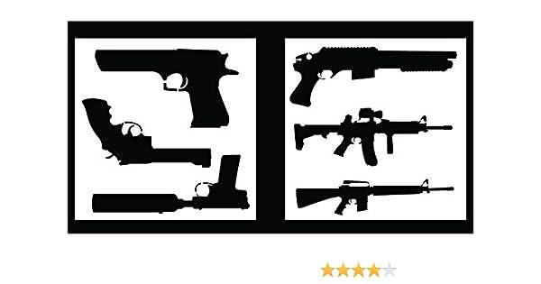 Includes Pistols /& Long Guns! Pair of Sheets Auto Vynamics 2 STENCIL-GUNSET01-10 Detailed Hand Guns /& Rifles Stencil Set 10-by-10-inch Sheets - Piece Kit