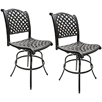 patio bar height bar stools armless outdoor swivel furniture cast aluminum garden. Black Bedroom Furniture Sets. Home Design Ideas