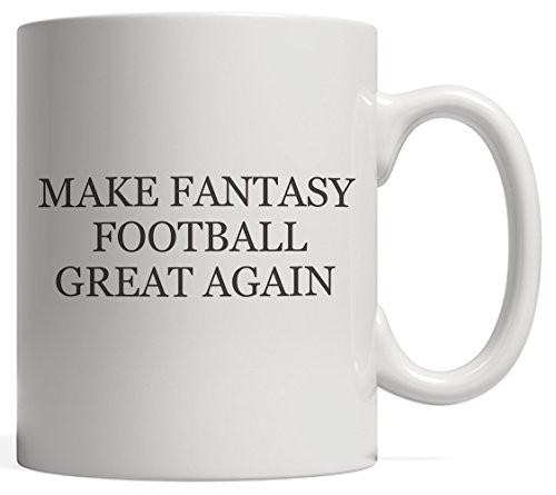 Make Fantasy Football Great Again Mug - Funny Draft Party Gift For League Commish And Sports Fans Who Bet To Win In Board Game With Winner And Loser For The Winning Champion Trophy!